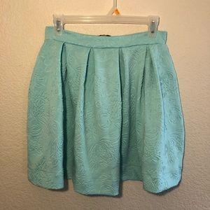 Light Teal Circle Skirt